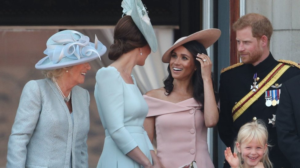 The Duchess of Cornwall, Duchess of Cambridge and the Duke and Duchess of Sussex,