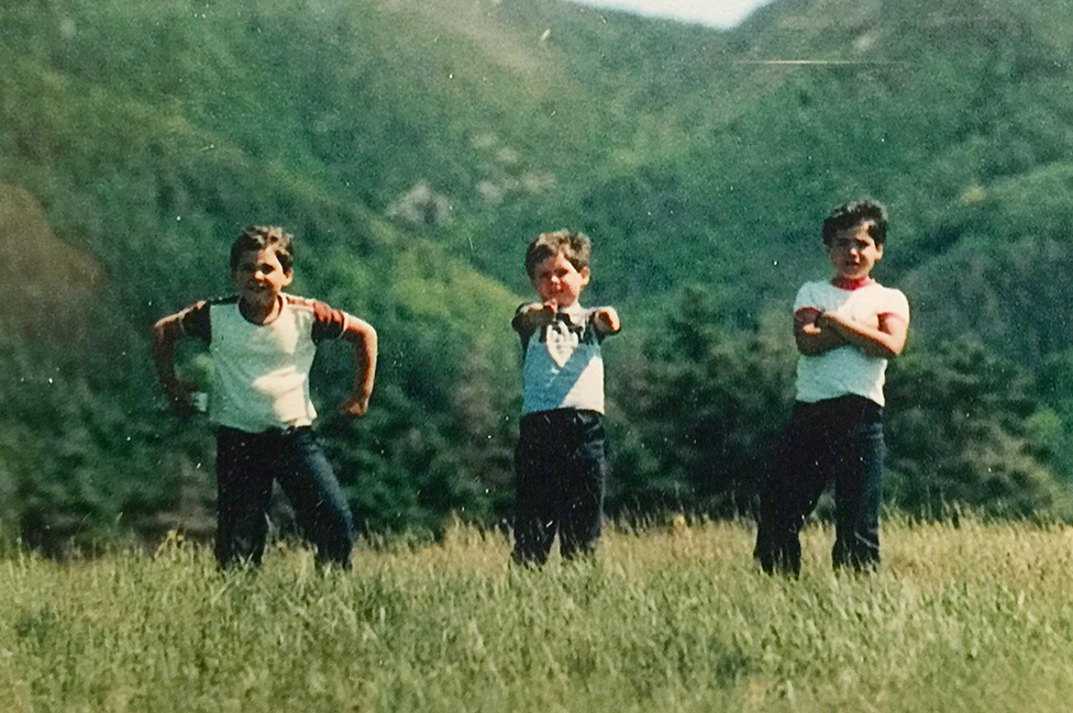 Jerry, Jesse y Josh en Cape Breton en 1980.