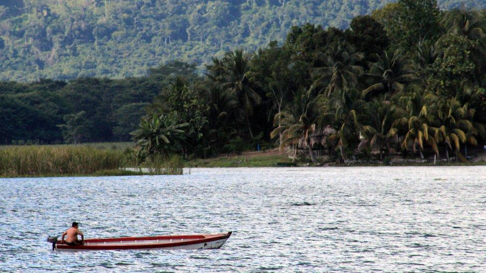 Boat on Lago Peten Itza