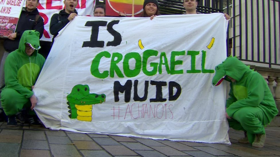 Conradh na Gaeilge issued judicial review proceedings over a failure to comply with a St Andrews Agreement pledge