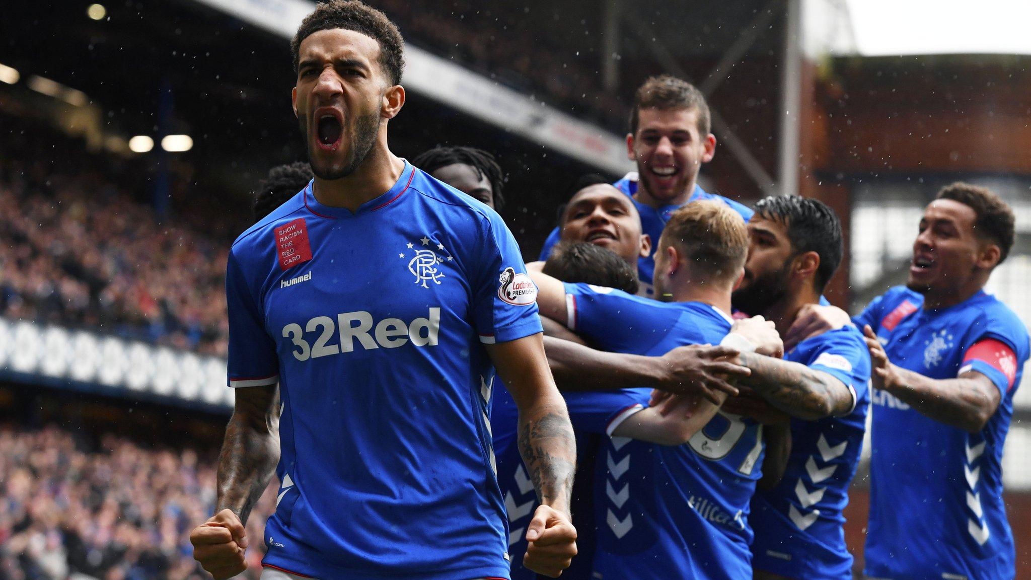 Rangers 3-1 Hearts: Kent, Morelos & Arfield score for Steven Gerrard's side