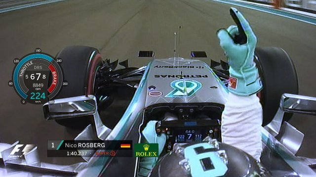 Mercedes' Nico Rosberg takes pole position in qualifying for the Abu Dhabi Grand Prix