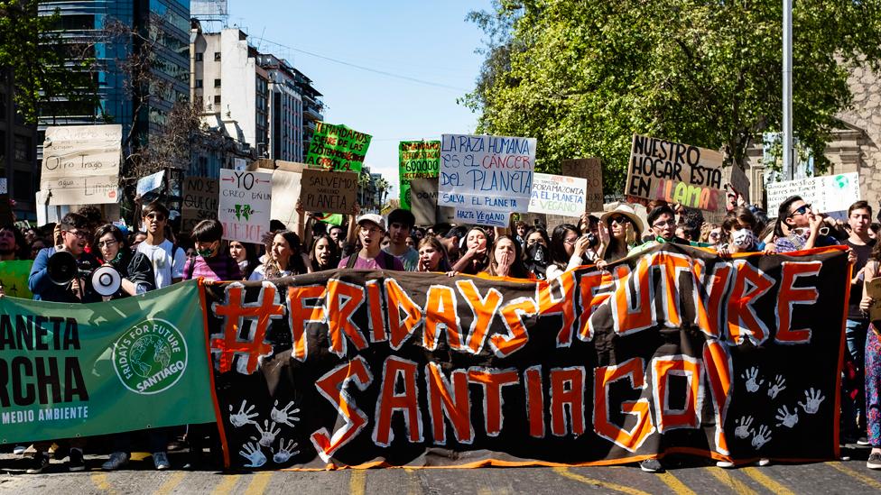 Protestas contra el cambio climático en Chile