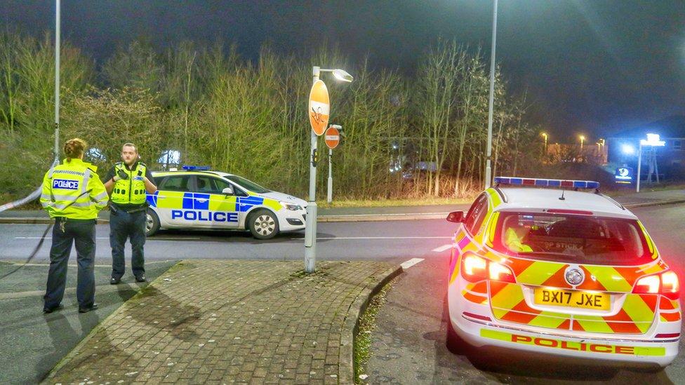 Driver dies as Leicester crash car rolls down embankment