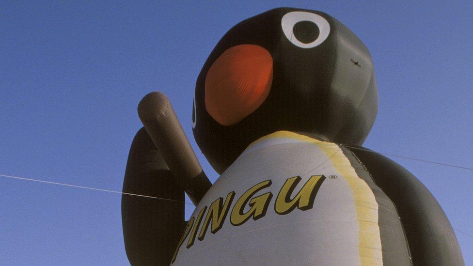 A giant, inflatable balloon Pingu