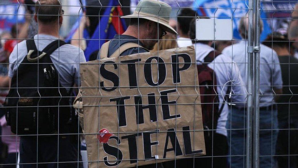 protestas proTrump.