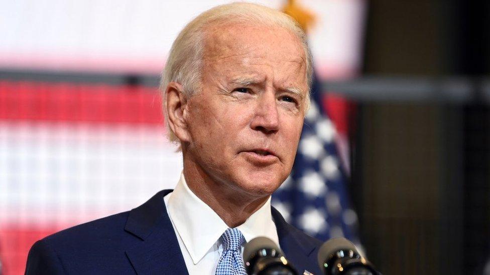 Joe Biden at microphone
