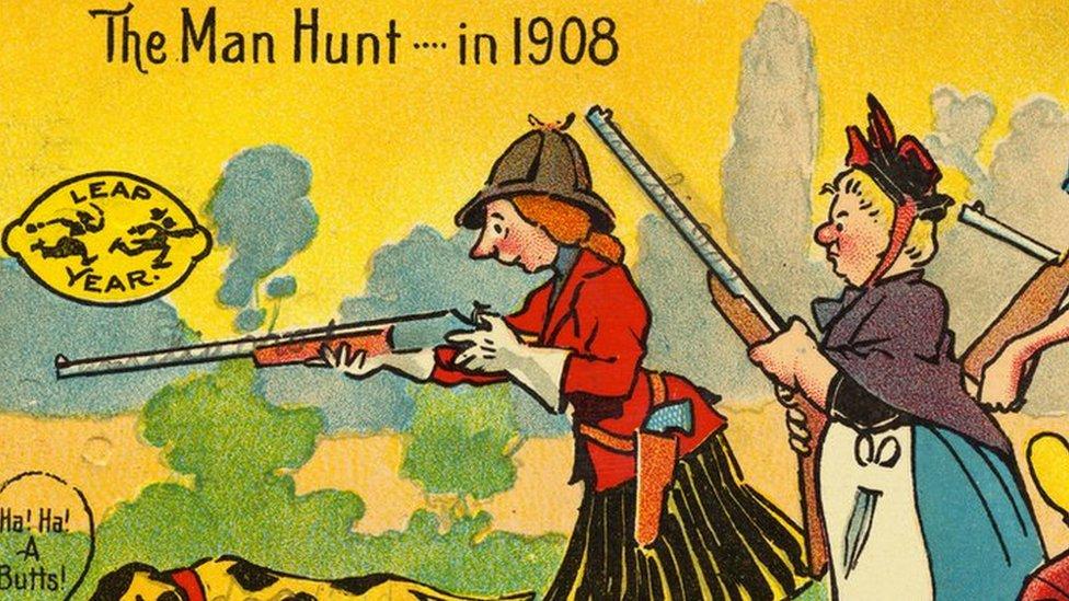 رسم كاريكاتيري يعود لعام 1908
