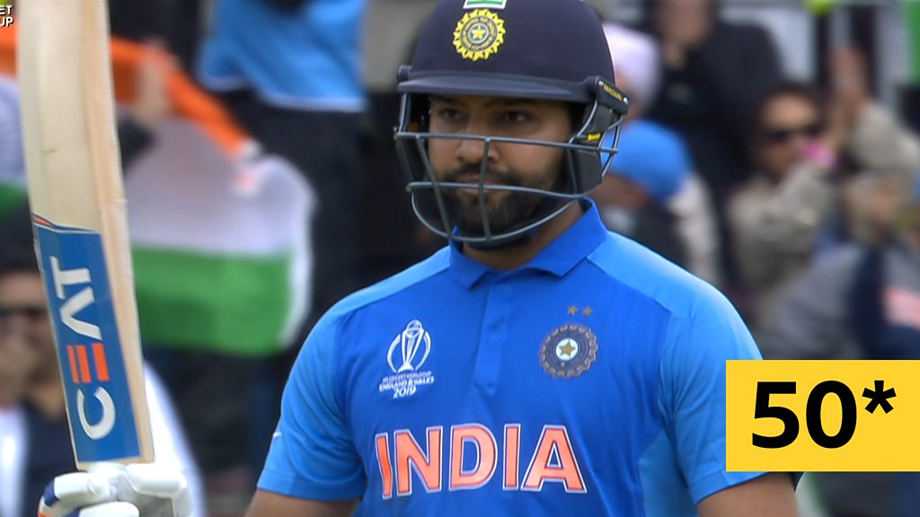 Cricket World Cup: Rohit Sharma reaches 50 for India against Pakistan
