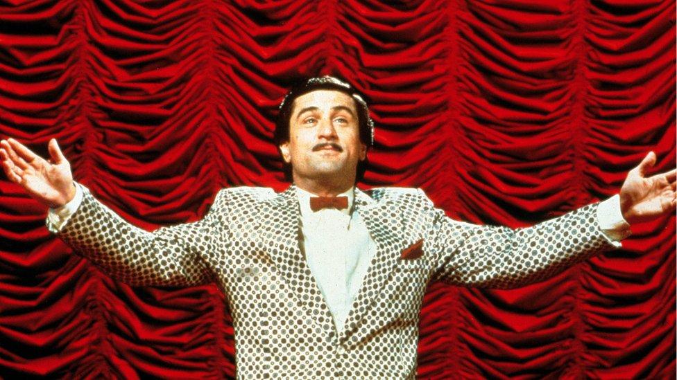 Robert De Niro kao Rupert Papkin u filmu Martina Skorsezea Kralj komedije