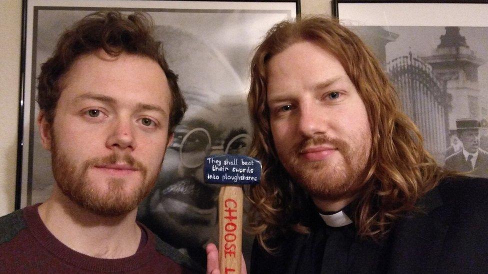 Sam Walton and Rev Dan Woodhouse