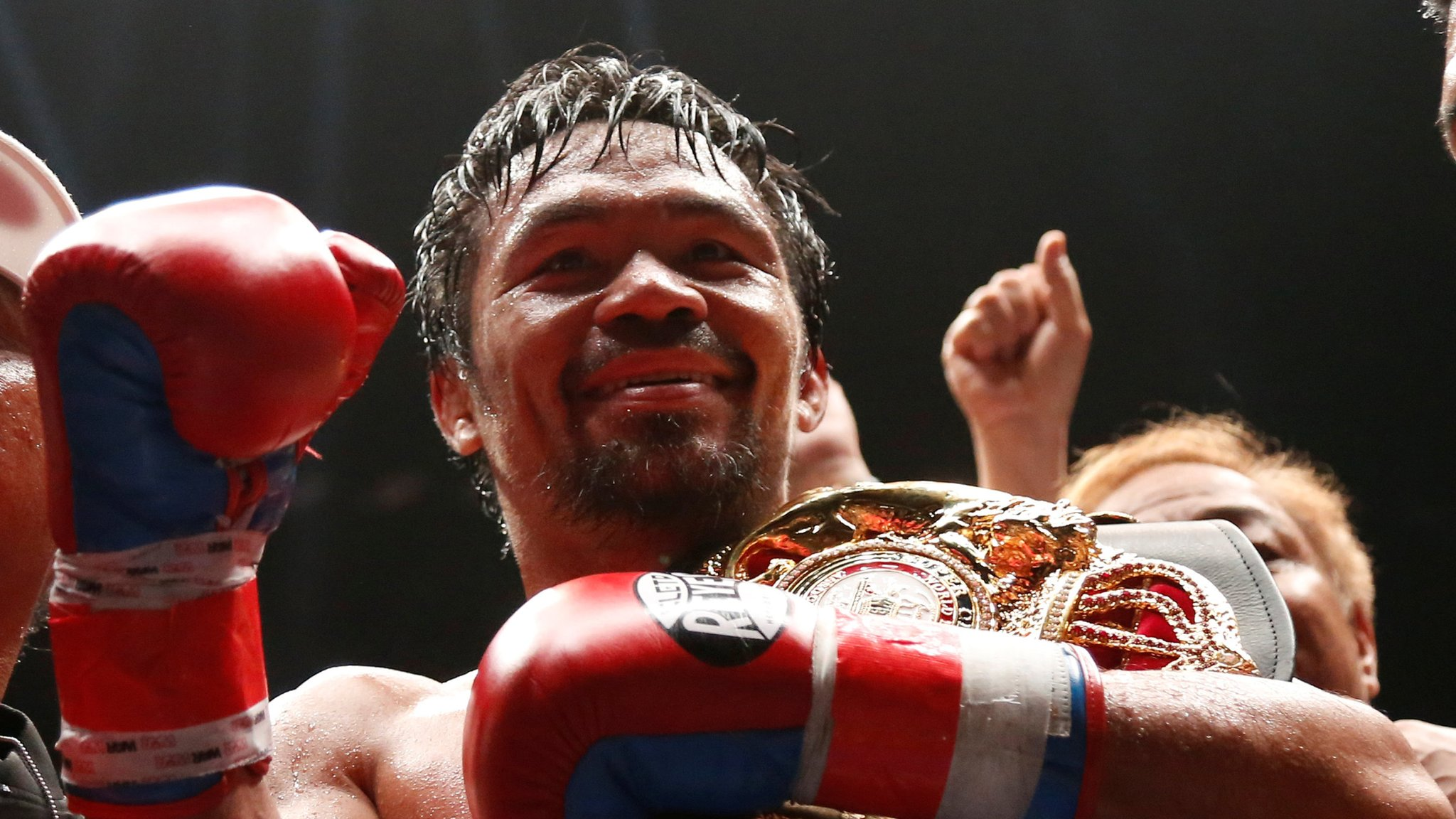 Pacquiao claims WBA world title with first knockout since 2009