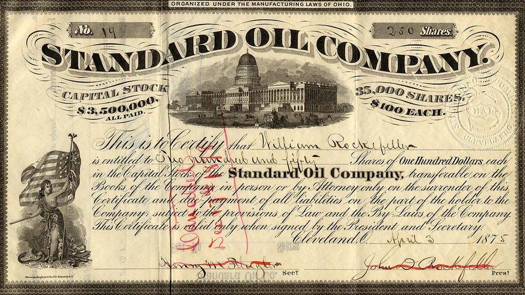 Acción de Standard Oil de 1875.