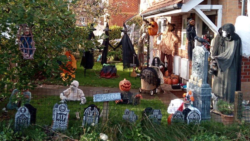 Kirsty Hall's Bristol Halloween display