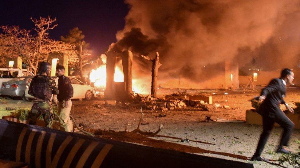 تفجير فندق سيرينا باكستان
