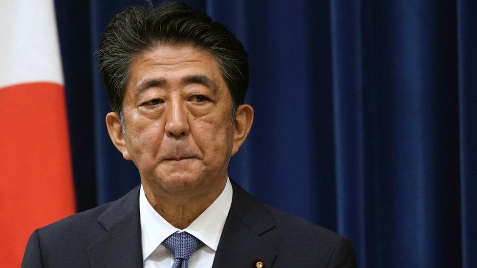 安倍晉三在總理官邸宣佈辭職(28/8/2020)