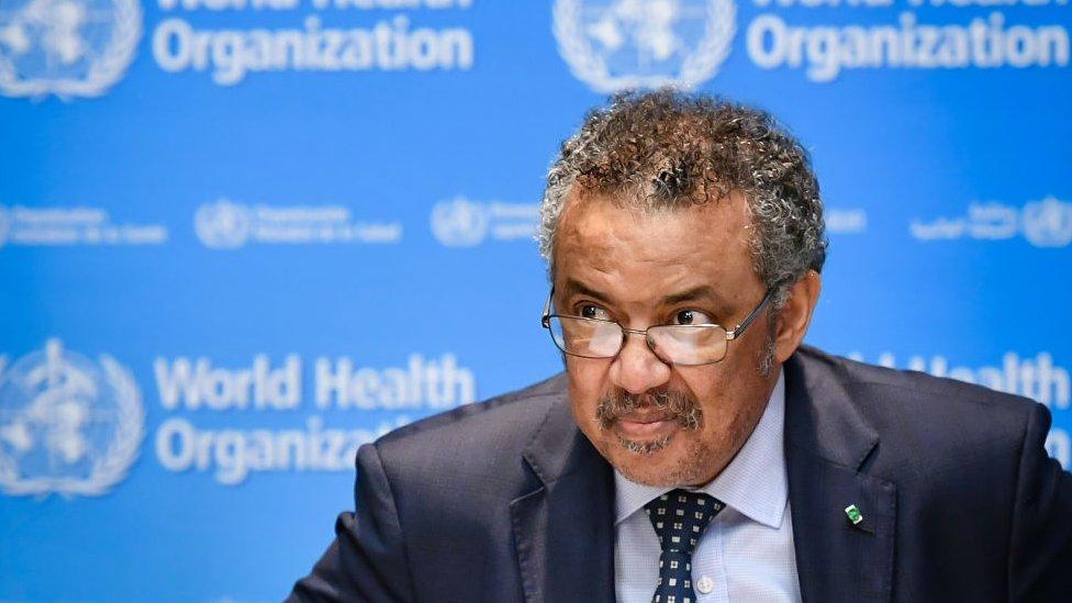 Dünya Sağlık Örgütü Başkanı Tedros Adhanolm, tüm ülkelerin koordinasyon içerisinde çalışması gerektiğini söylüyor.
