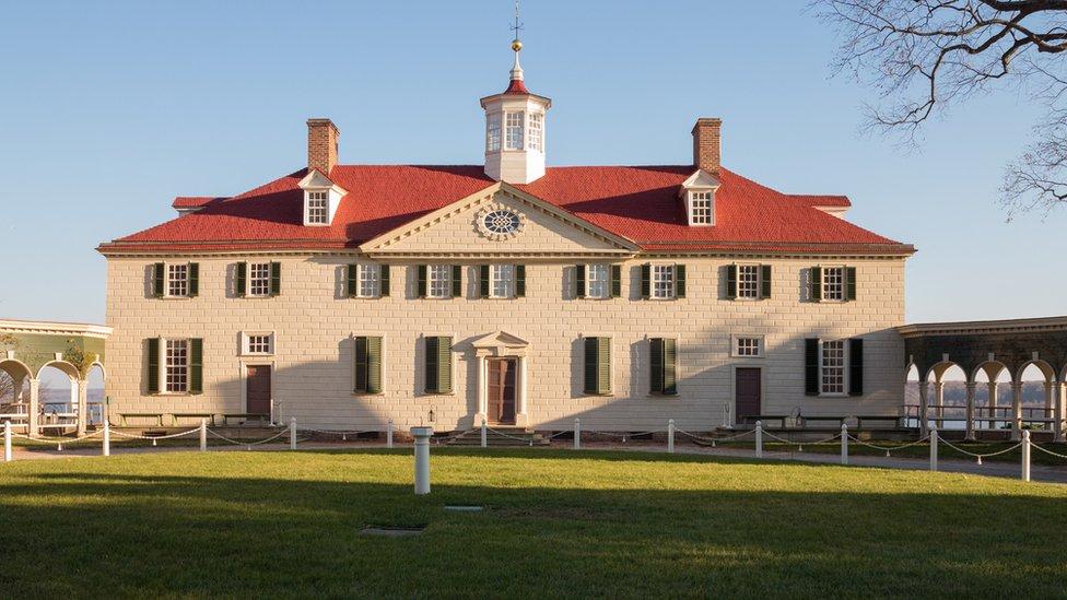 Mount Vernon, la residencia de los Washington en Virginia.
