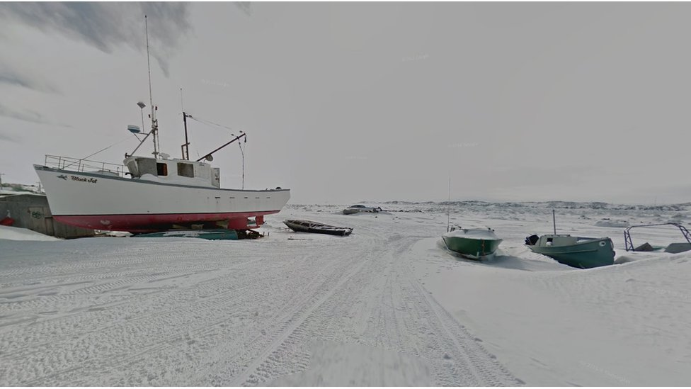 When the summer comes people can travel by boat between the Nunavut communities