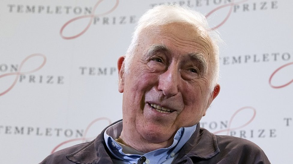 Jean Vanier speaks at a press conference in London
