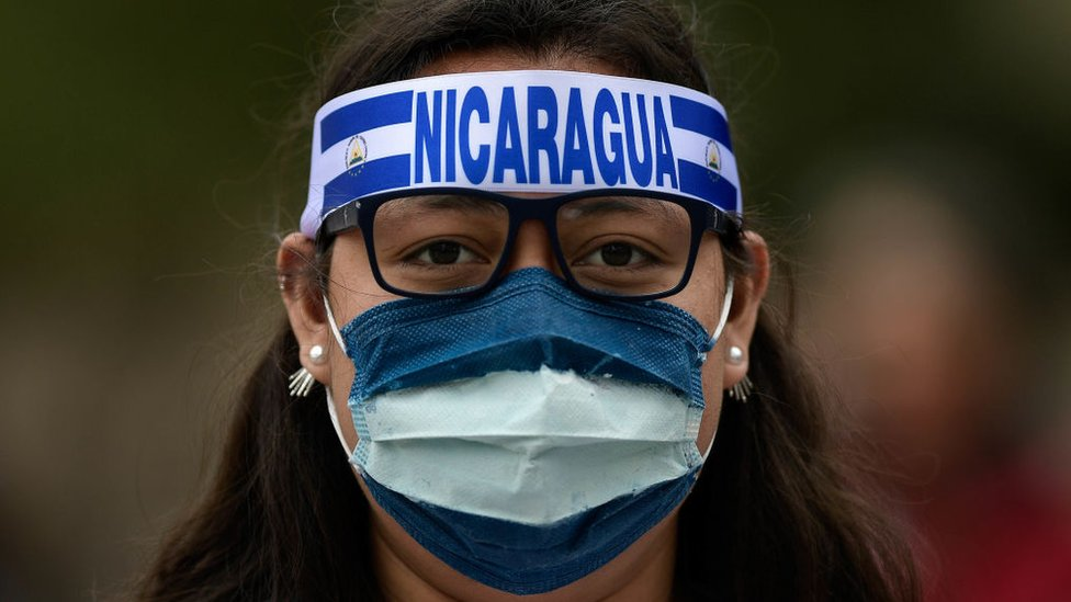 Manifestante nicaragüense.