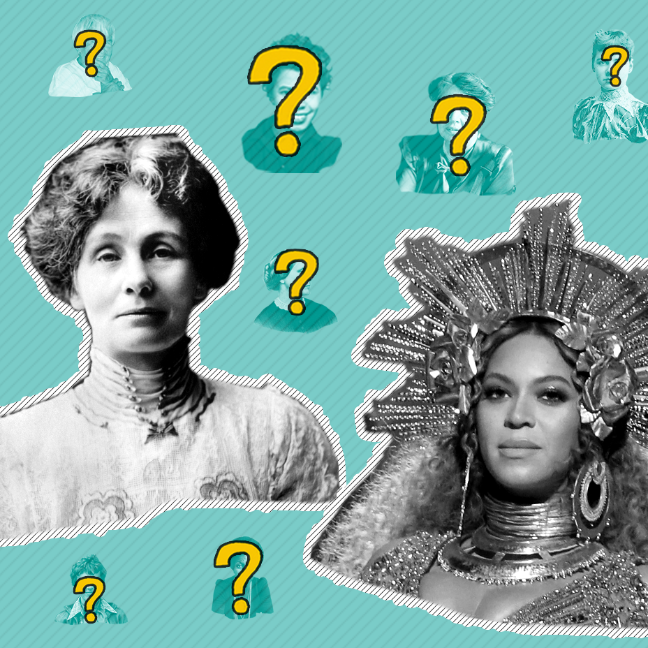 What links Emmeline Pankhurst to Beyonce?