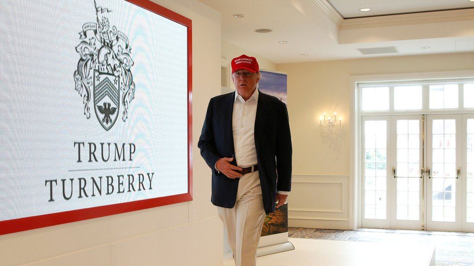 Donald Trump a Turnberry in June 2016