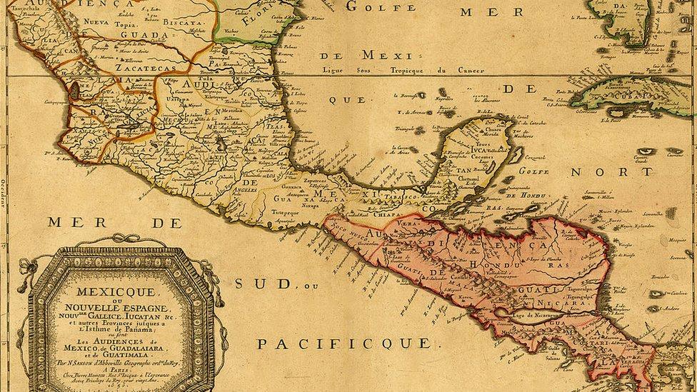 Mapa de Nueva España