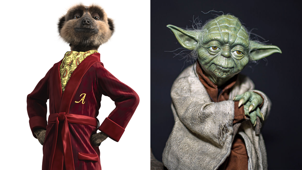 Aleksandr from Compare the Market adverts and Star Wars character Yoda