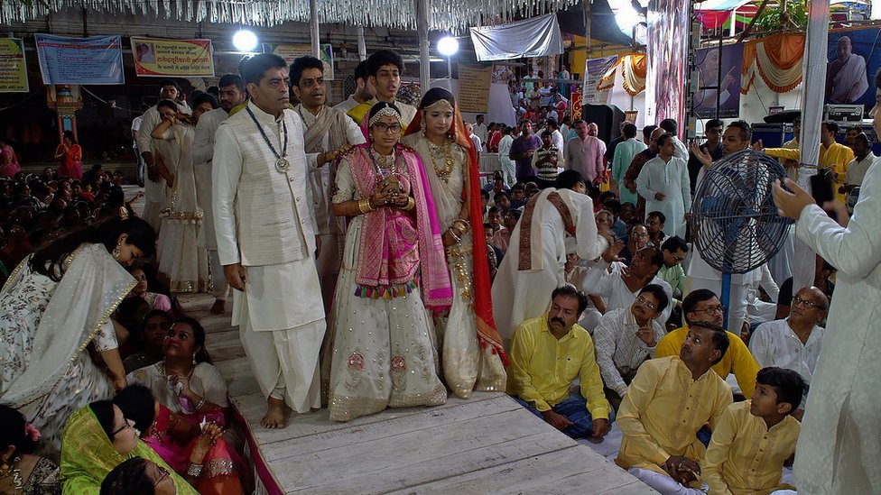 A deeksha ceremony