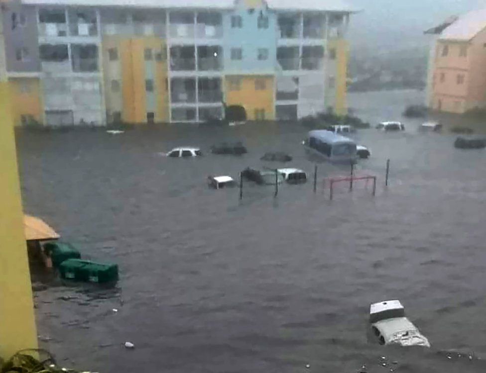 Flooding in Saint Martin, 6 September