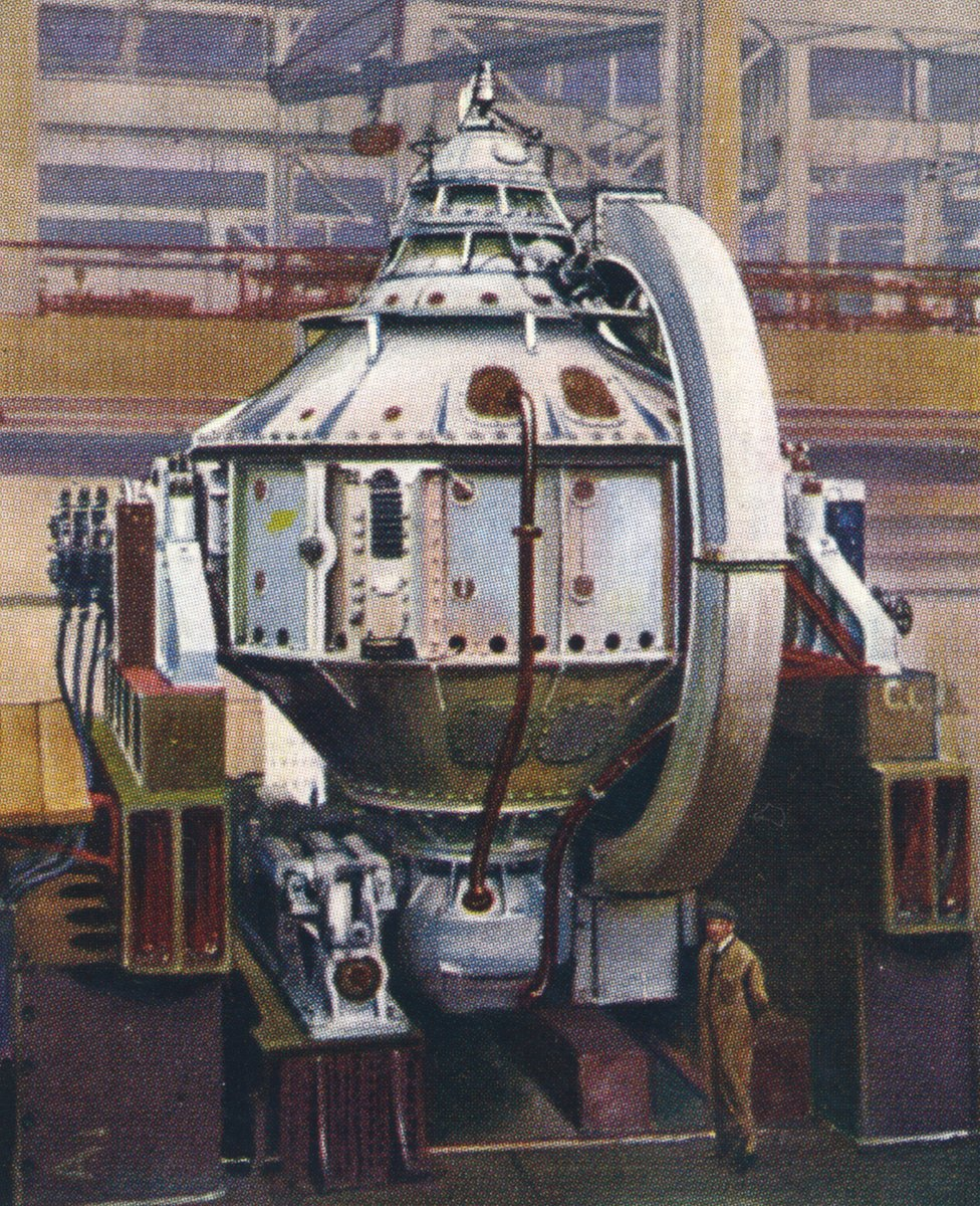 El girocompás fue considerado una maravilla moderna, que se muestra aquí en una ilustración de un cartón de cigarrillos.