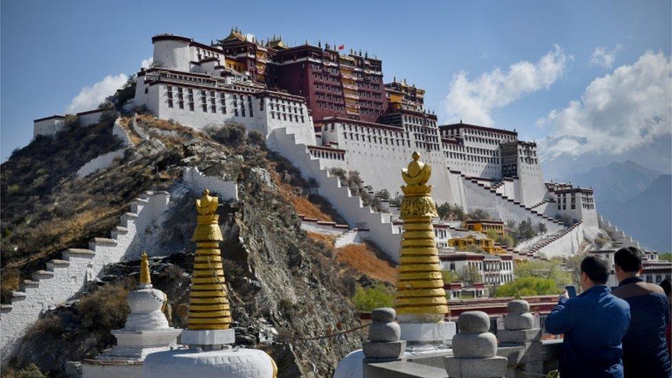 Palacio Potala en Lhasa, Tibet