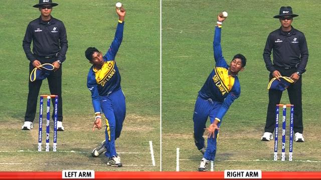Sri Lanka's ambidextrous bowler Kamindu Mendis