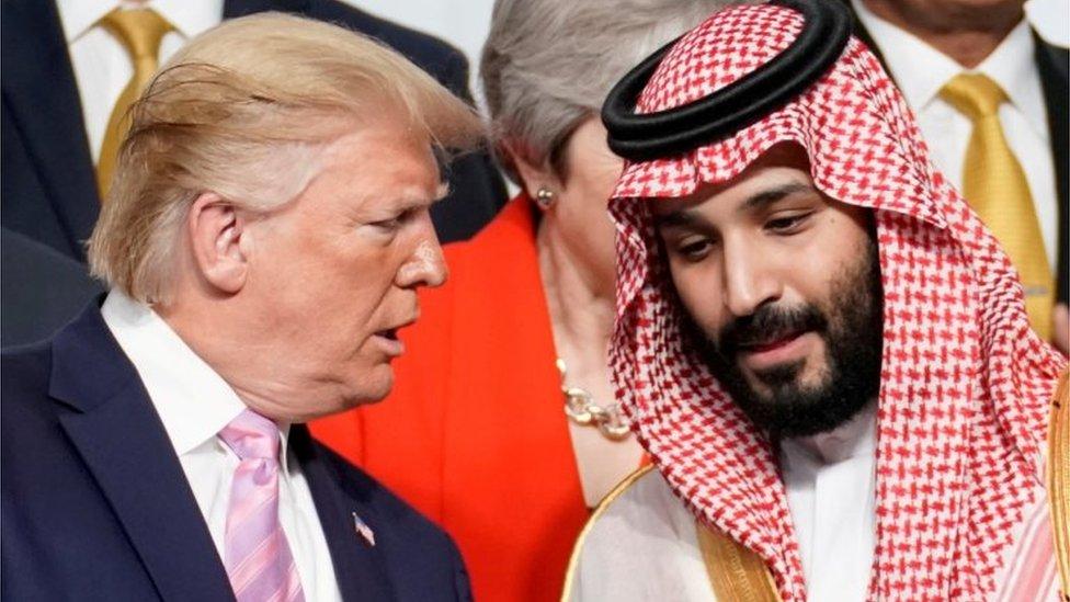 Donald Trump and Mohammed Bin Salman (28/06/19)
