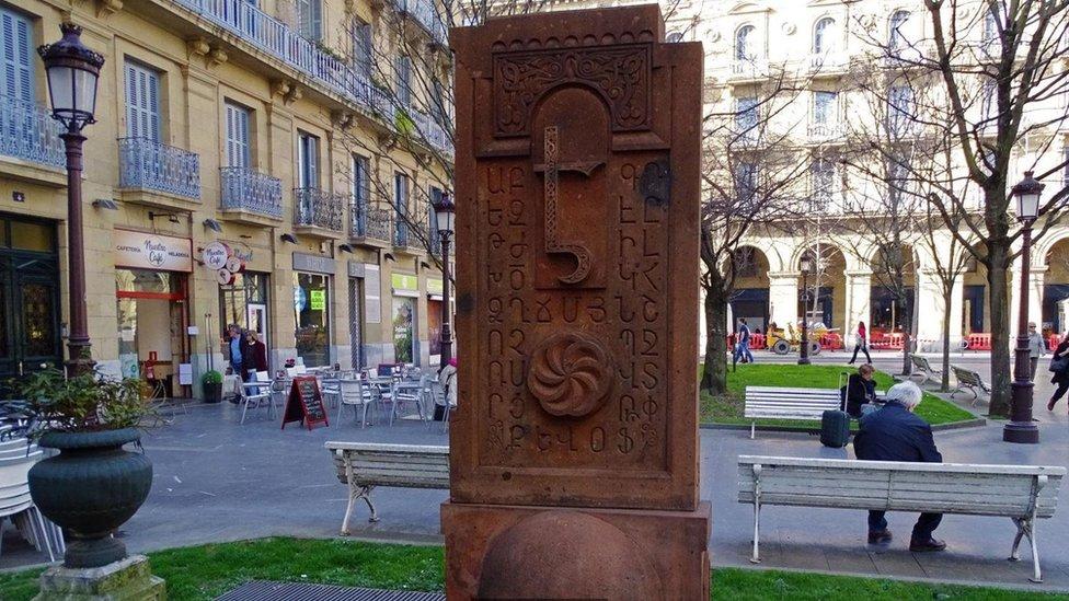 'jachkar' de San Sebastián, España.