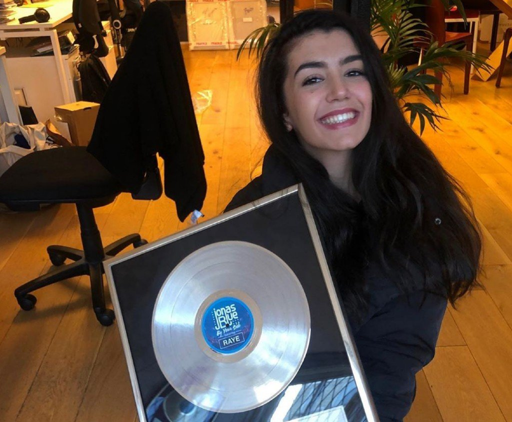 Gracey with her platinum disc