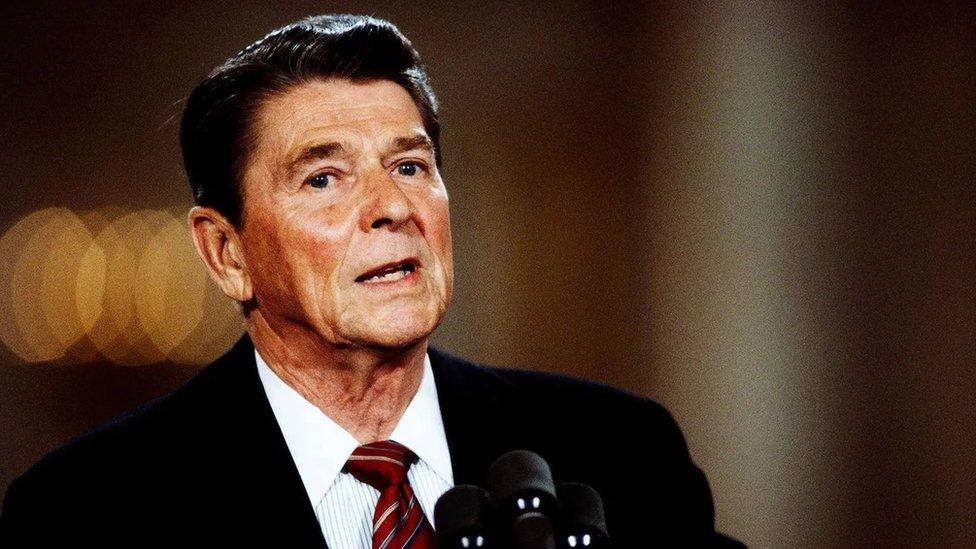 Expresidente de EE.UU. Ronald Reagan en 1984