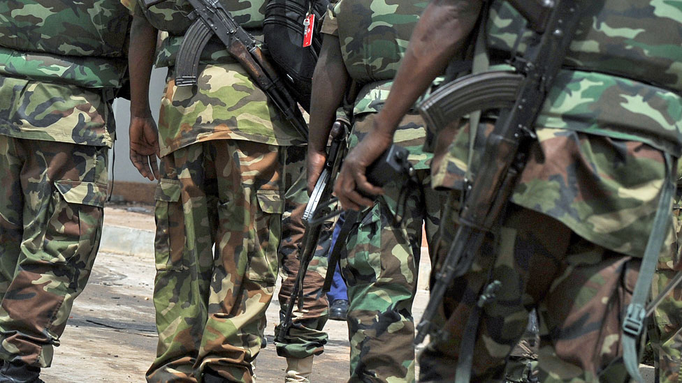 Soldiers in Abuja, Nigeria