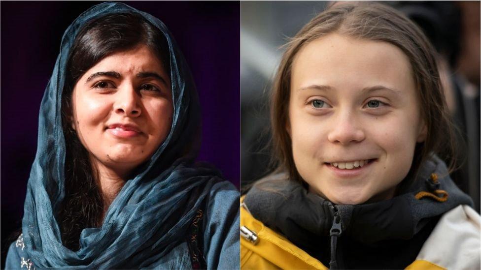 Malala Yousafzai y Greta Thunberg