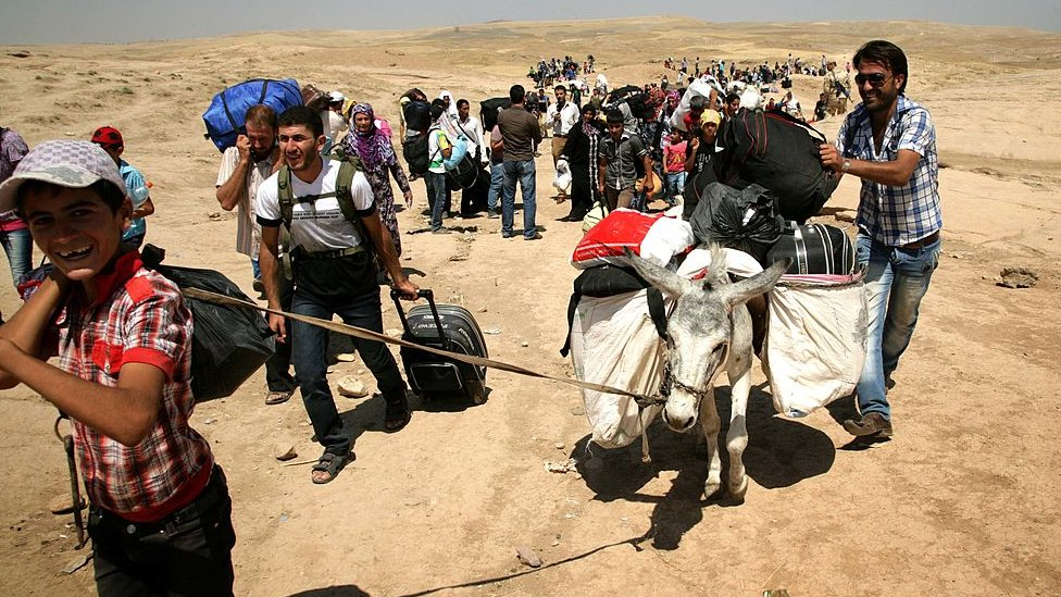 Syrian refugees seeking sanctuary in Iraqi Kurdistan