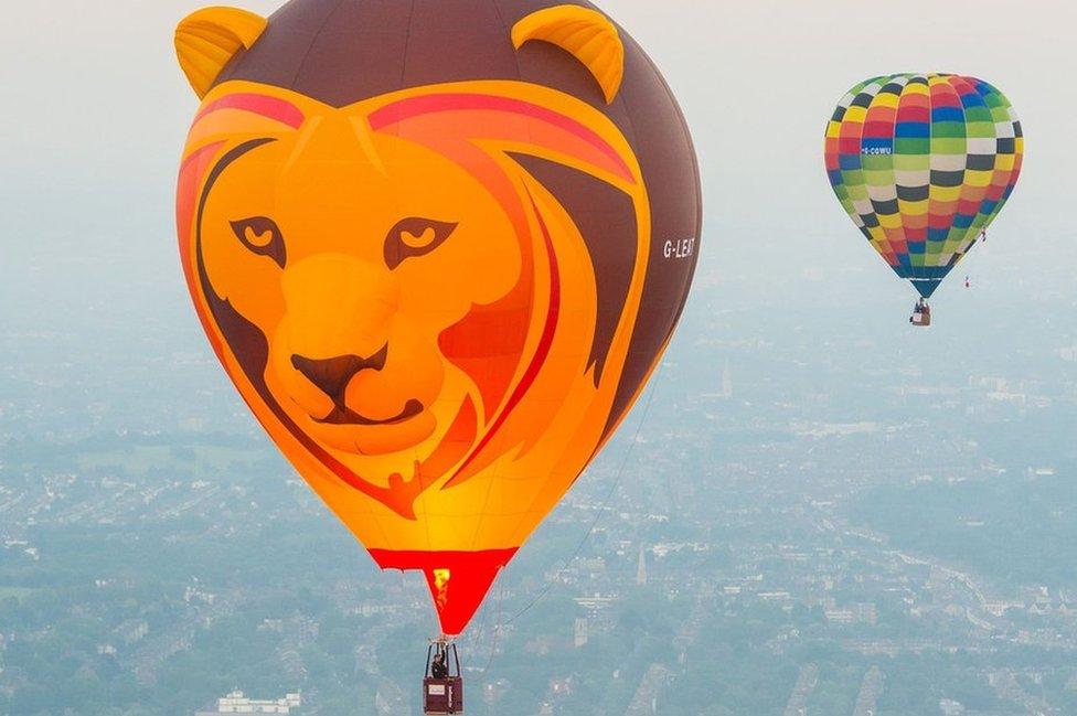 Lion themed hot air balloon