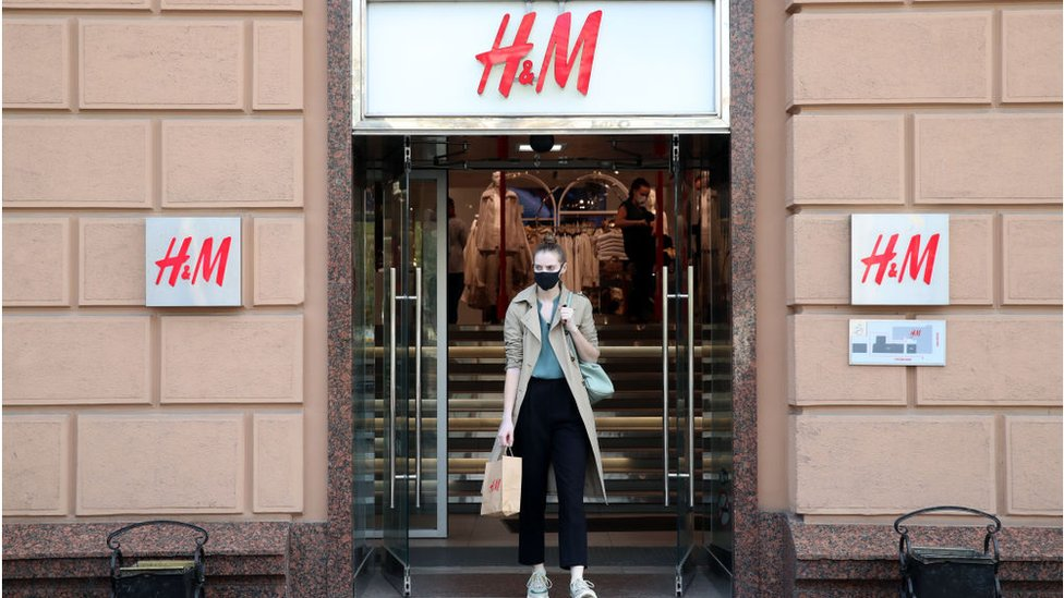 An H&M store in Moscow