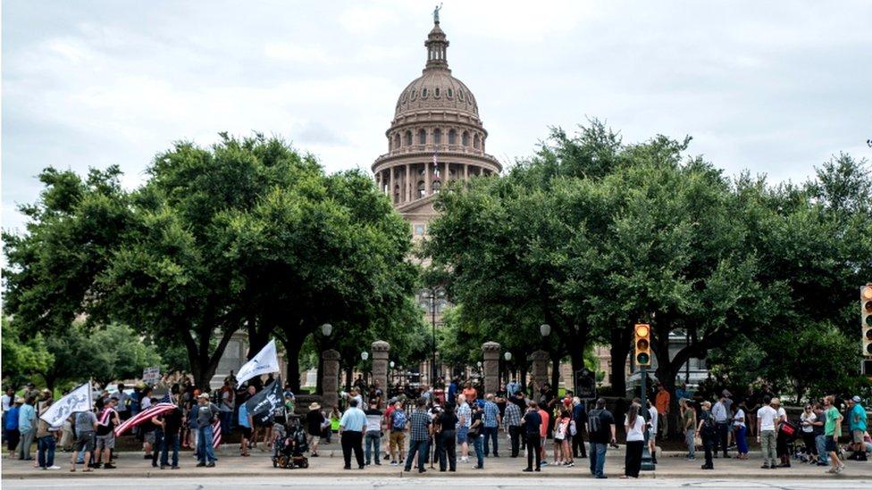 احتجاج في أوستن عاصمة ولاية تكساس