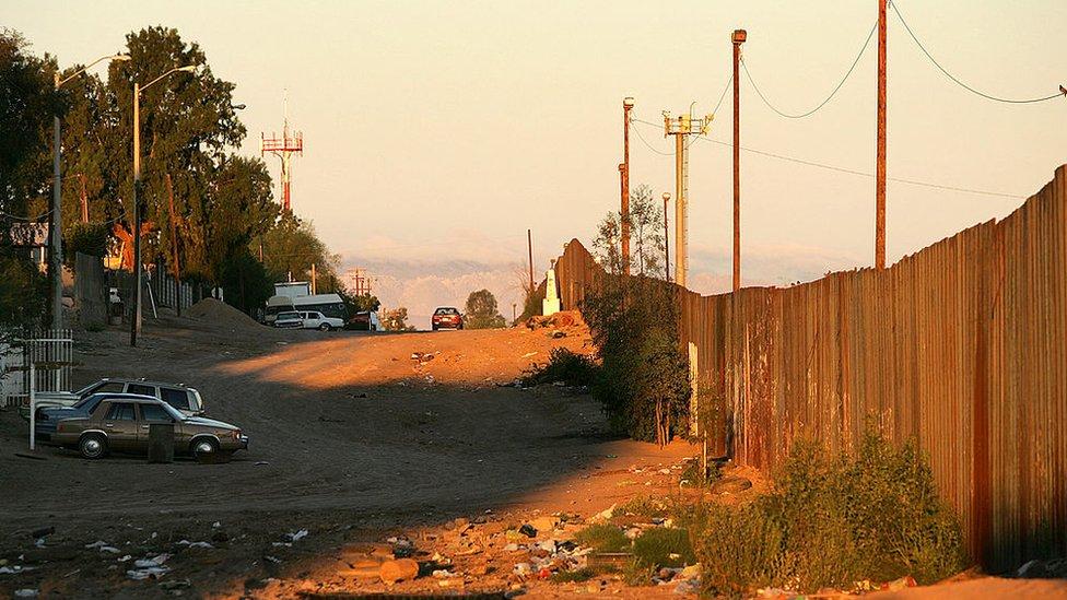 La frontera entre México y EE. UU.