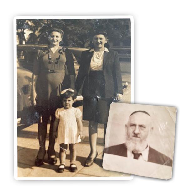 Miriam Levinson junto a su familia.