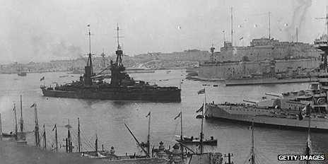 British naval vessels in Malta