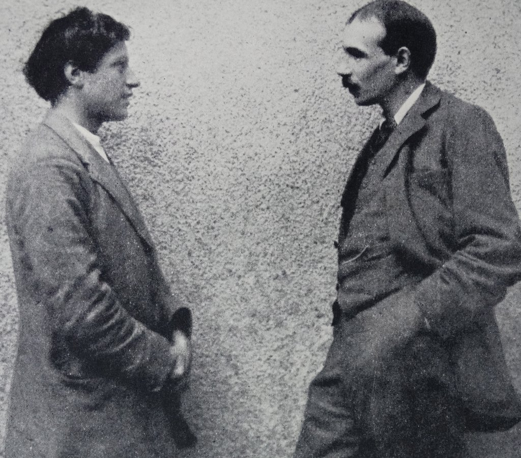 Duncan Grant (izquierda) y Maynard Keynes