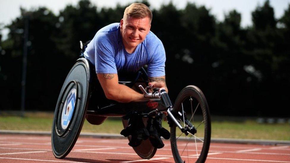 Britanski Paraolimpijac Dejvid Vir