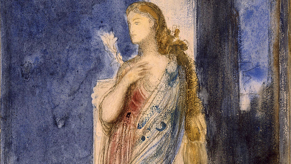 Helena de Troya pintada por Gustave Moreau